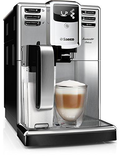 Saeco HD8921/01 Incanto Deluxe Kaffeevollautomat, integriertes Milchsystem, edelstahl