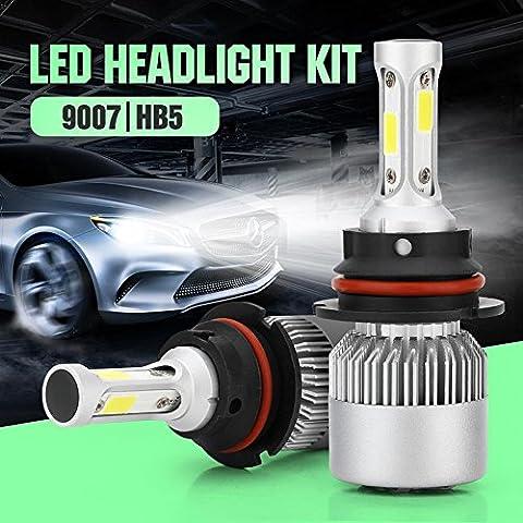 40W 4000LM Phare de voiture S2 X3 6000K lumières led P68 Lo Beam 2Yr Garantie , 9007.HB5