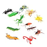 Lot de 12pcs Mini Insectes Artificiels en Plastique Figurine Miniature ...