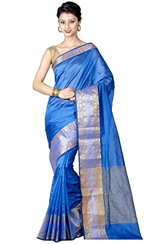 Chandrakala Pure Banarasi Weaves- Blue Saree(8187)