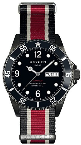 OXYGEN - EX-D-MBB-40-NN-BLIVRE - Montre Mixte - Quartz - Analogique - aiguilles luminescentes - Bracelet Nylon Multicolore