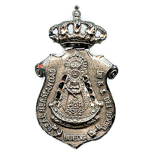 Medalla Virgen del Rocio Hermandad DE HUELVA 35x20 mm Plata DE Ley