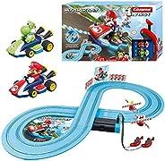 Carrera-1. First Super Mario & Yoshi Circuito de Coches de Miniatura Nintendo Mario Kart de 2,4 m, Escala