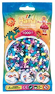 HAMA BEADS 207-69 abalorio Surtido de Abalorios Multicolor 1000 Pieza(s) - Abalorios (Surtido de Abalorios, Multicolor, 1000 Pieza(s))