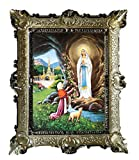 Lnxp Gemälde Tuerca Maria Lourdes Virgo Virgen ikonen Sagrada Cuadro con...