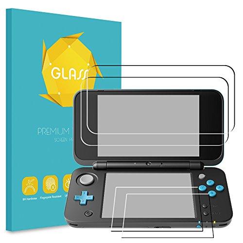 Fintie Displayschutzfolie für Nintendo 2DS XL, [2Glas Oben, 2Glas Unten] gehärtetem Glas Displayschutzfolie Kratzfest Ultra Clear Displayschutzfolie für Nintendo New 2DS XL 2017