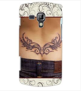 ColourCraft Awesome Tatto Design Back Case Cover for SAMSUNG GALAXY S DUOS 2 S7582