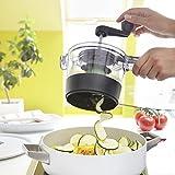 Luckyfine Spiralfix Spiralschneider Multifunktions 4-in-1 Küchenmaschine Gemüse Rotary Shredder