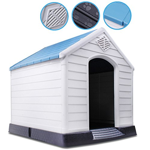 Big Outdoor Weatherproof Dog Kennel With Front and Rear Ventilation