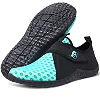 JIASUQI Water Shoes Women Beach Swim Shoes Barefoot Quick Dry Aqua Skin Socks Pool Shoes Bright Blue, 6 UK