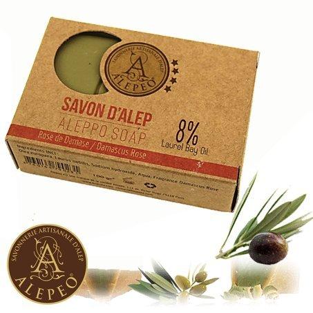Damaskus, 8 (Alepeo Olivenölseife Damaskus Rose 8% Lorbeeröl 100g)