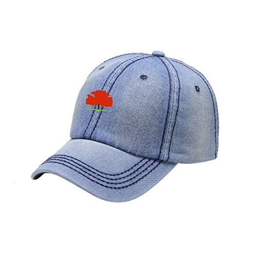 5323cf4a30d73 NeeKer New Jersey State Tree Light Cowboy Washed Dyed Peaked Hat  Embroidered Logo Adjustable Dad Cap