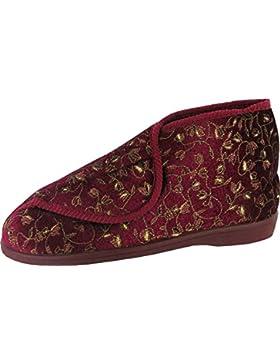 Mirak Edna textil en plata fácil cierre zapatos de zapato de se puede lavar a máquina., Wine, 8