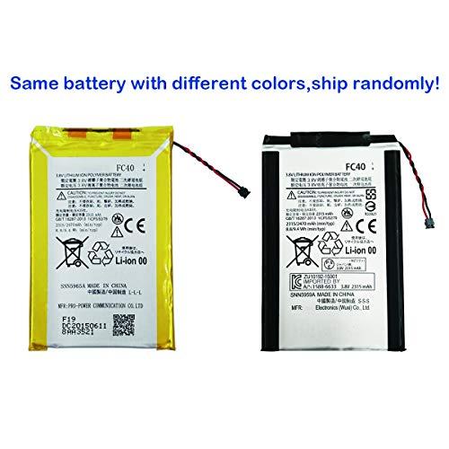 Swark FC40 - Batteria compatibile con Motorola Moto G 3rd Gen G3 XT1548 SNN5959A