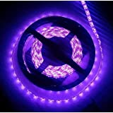 corst Lila UV LED Luz 5M 500cm SMD 3528LED 300UV Luz banda tira Flex Luz