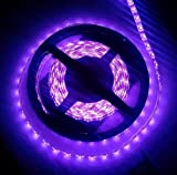 CORST Luz Ultravioleta Tiras led UV 5M SMD3528 300LED luz negra ultravioleta Flex Luz