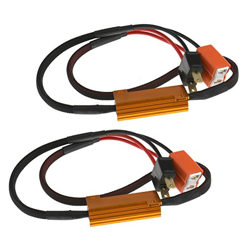 Preisvergleich Produktbild 2x H7 Canbus Adapter LED SMD Lampe Last Widerstand 50W 6Ohm ohne Fehlermeldung