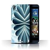 Custodia/Cover Rigide/Prottetiva STUFF4 stampata con il disegno Arte Astratta per HTC Desire 626G+ - Libro/Fiore di Carta