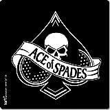 1art1 100813 Spielkarten - Ace of Spades Poster-Sticker Tattoo Aufkleber 9 x 9 cm