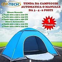 FP-TECH Tenda da Campeggio 3 4 6 POSTI Persone Canadese Automatica Igloo Gazebo Sacca (Tenda 6 Posti)