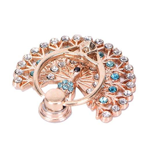 sundatebe Pfau Metall Diamant Fashion 360Grad Finger Ring Handy Ständer - Lichter Finger-ring