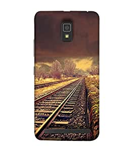 Fuson Designer Phone Back Case Cover Lenovo A6600 :: Lenovo A6600 Plus ( An Abandoned Railway Track )