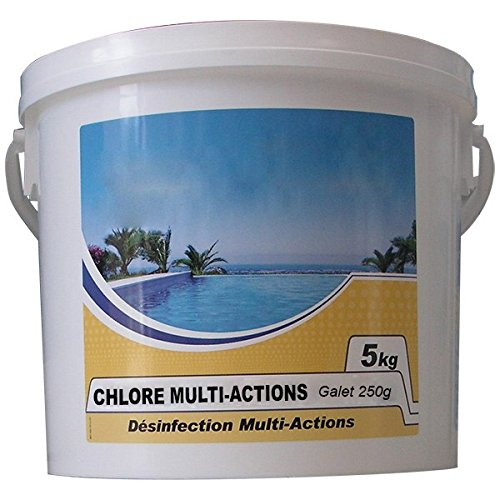 No Name - Force 5 Actions - Chlore Lent Multi-Fonctions Galet 250g 5kg