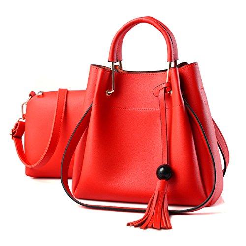 Mode Kurierbeutel Große Kapazität Frau Handtaschen Schultertaschen Große Taschen Lässig Elegant Temperament Bild Paket Quaste Parteibeutel Orange