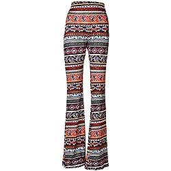 Pantalones Acampanados Étnicos Tribal Stretch 70s Bell M