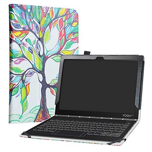 LiuShan Yoga Book C930 Custodia, Slim Sottile Pieghevole con Supporto in Piedi Caso per 10.1' Lenovo Yoga Book C930 Android Tablet,Love Tree