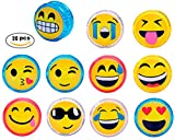 Lote de 24 Yo Yo Emoticonos con Luz - Yoyos para detalles niños Comuniones, Bodas, Cumpleaños, Fiestas