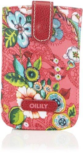 Oilily French Flowers Smartphone Pull Case Pink OCB3232-402, Damen Ausweis- & Kartenhüllen, Pink (pink 402), 14x9x3 cm (B x H x T)