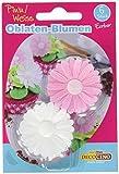 Dekoback Essbare Oblaten Blumen rosa/weiß, 12 g
