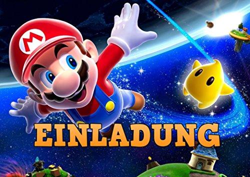 TV-24 Super Mario Einladungskarten 12er Set inkl. 12 Umschläge E5 (Bleistifte Super Mario)