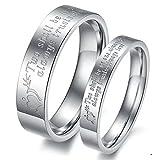 Pulsera para Escorpio ' dos se Be como una única. Protege siempre. Always trust. Always Love ' acero inoxidable Promise anillo de pareja