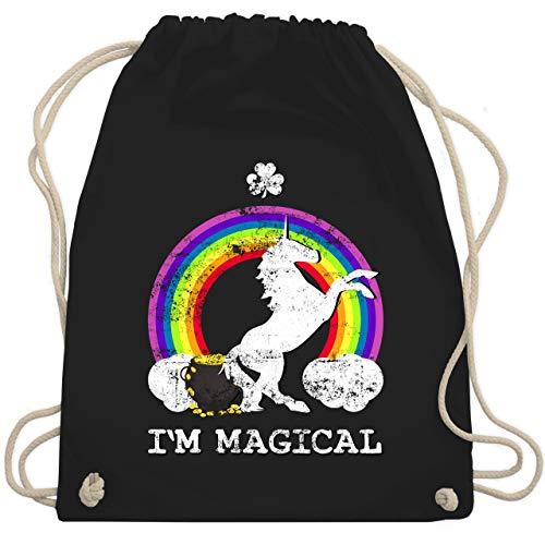 St. Patricks Day - I'm Magical Einhorn St. Patricks Day Vintage - Unisize - Schwarz - WM110 - Turnbeutel & Gym Bag