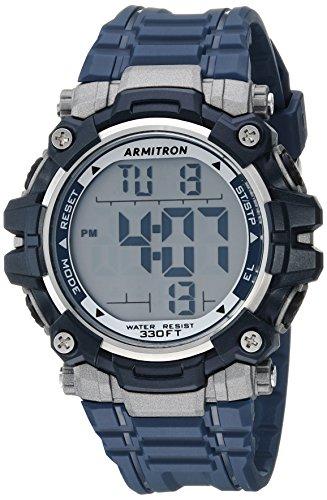 Armitron Sport 40/8427NVY - Reloj digital para hombre, cronógrafo, correa de resina, color azul marino