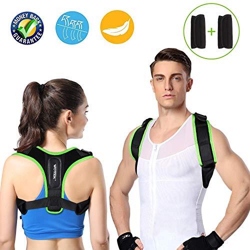 WOTEK Geradehalter zur Haltungskorrektur Rückenstütze Rückenstabilisator Haltungsbandage Rückenstützgürtel Rückenbandage für Damen Herren aufrechte Körperhaltung Gesunde Fitness