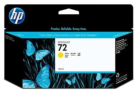 HP 72 Gelb Original Druckerpatrone mit hoher Reichweite (130 ml) für HP DesignJet