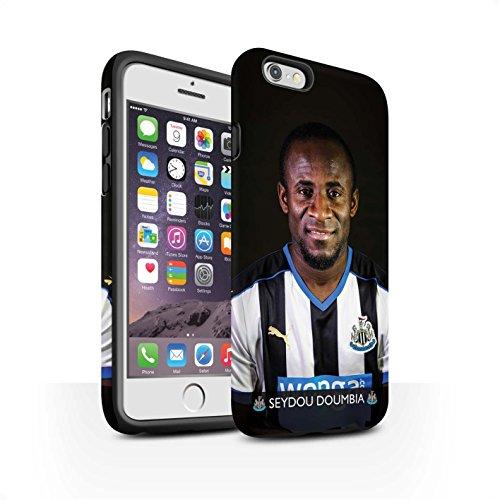Offiziell Newcastle United FC Hülle / Matte Harten Stoßfest Case für Apple iPhone 6S / Shelvey Muster / NUFC Fussballspieler 15/16 Kollektion Doumbia