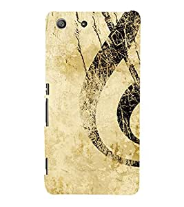 Musical Sign 3D Hard Polycarbonate Designer Back Case Cover for Sony Xperia M5 Dual :: Sony Xperia M5 E5633 E5643 E5663