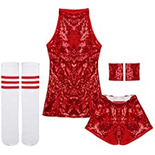 iiniim Disfraz de Animadora Bailarian Tenis para Niña Ropa de Danza Hip Hop  Jazz Baile Callejero 6c81b555c43d0