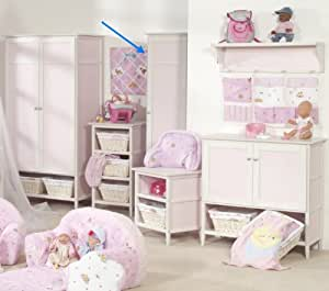 roba kleiderschrank baby born kinderzimmer schrank in rosa 180 x 51cm k che haushalt. Black Bedroom Furniture Sets. Home Design Ideas