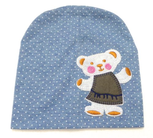 b3cce6952d7 BB.24 - Bonnet Bébé Enfant 0-36 Mois - Bonnet Bleu Ciel à