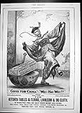 Antiker Druck der Brookes-Affe-Marken-Seife für Küchentisch-Böden 1898