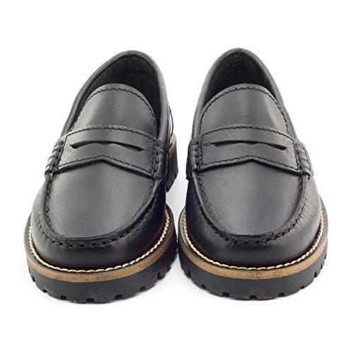 Boni School, mocassins cuir noir Noir