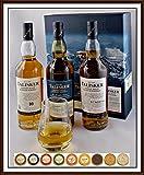 Talisker 3 x 200ml Whisky mit Spey Dram Glas & 9 DreiMeister Edel Schokoladen in 9 Variationen, kostenloser Versand