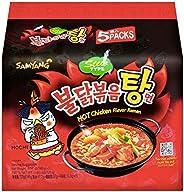 Samyang Hot Chicken Ramen Noodles Stew, 145 gm x 5