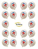 Deluxe 30 England Balloons - FIFA England Football World Cup 2018 GB Party Decorations