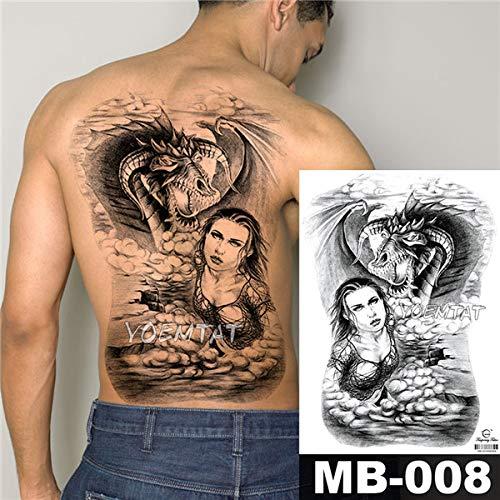 Handaxian 3pcs angelo croce ali grande autoadesivo del tatuaggio tatuaggio impermeabile full back splendida gioielli body art 2 pz-6